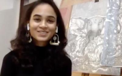 Nandini Hasija – graphite drawings and her sculpture