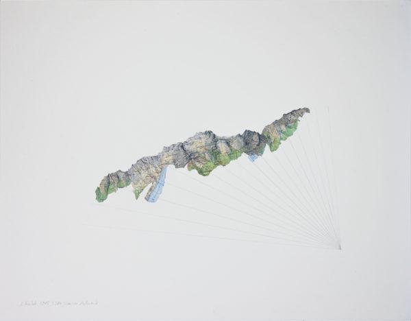 Collage faked mountain, 284, Stausee Mattmark