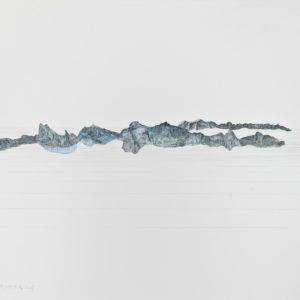 Collage mit Zeichnung aus Schweizer Bergkarte, Alp Gnof 245-1
