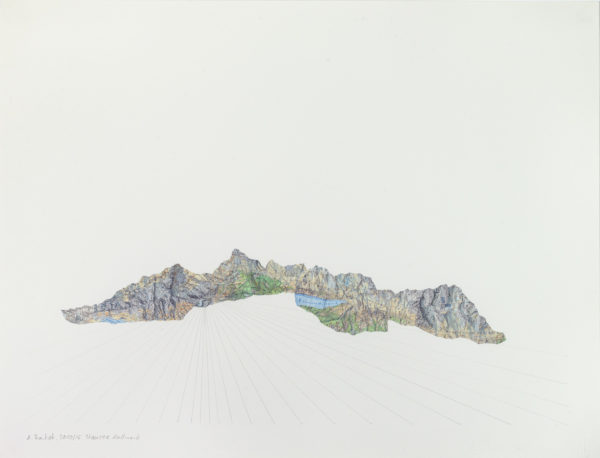 Collage, aus Schweizer Bergkarte, Stausee Mattmark